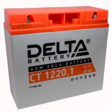 """АКБ 12V - 19 Ач """"Delta CT 1220.1"""" (YT19BL-BS)"""