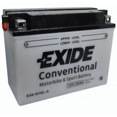 """АКБ 12V -20 А/ч """"EXIDE"""" E50-N18L-A"""
