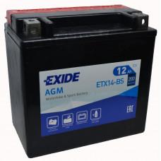 """АКБ 12V - 12 А/ч """"EXIDE AGM"""" (ETX14-BS)"""
