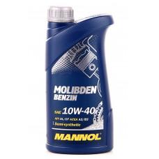 Масло MANNOL Molibden Benzin моторное 10W40 п/синтетическое 1 литр