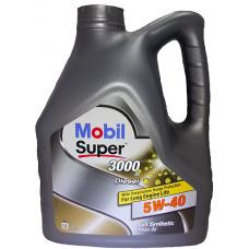 Масло моторное MOBIL Super 3000 X1 Diesel 5W40 синтетическое 4 л