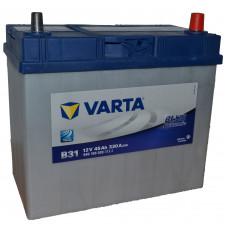 """АКБ  45 """"VARTA"""" Blue Dynamic  Asia обратная полярн.(японск.клеммы)"""