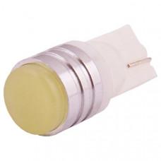 Лампа светодиод 12V Т10 (W5W) SKYWAY без цоколя ROUND, белая, 1 диод, 1-конт
