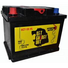 """АКБ  55Ач """"Let Energy Out"""" прямая полярность"""