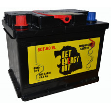 """АКБ  60Ач """"Let Energy Out"""" прямая полярность"""