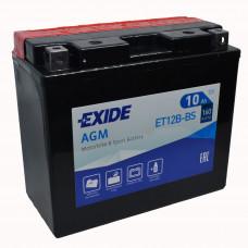 "АКБ 12V - 10 А/ч ""EXIDE AGM"" (ET12B-BS)"