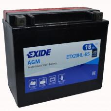 """АКБ 12V - 18 А/ч """"EXIDE AGM"""" (ETX20HL-BS)"""