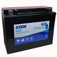 """АКБ 12V - 21 А/ч """"EXIDE AGM"""" (ETX24HL-BS)"""