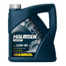 Масло MANNOL Molibden Benzin моторное 10W40 п/синтетическое 4 литра