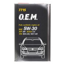 Масло моторное MANNOL 7715 O.E.M. VW, Audi, Skoda 5W40 синтетическое 1 л