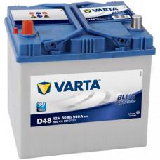 "АКБ  60 ""VARTA"" Blue Dynamic Asia прямая полярность"