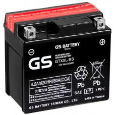 """АКБ  12V -4 А/ч """"GS"""" GTX5L-BS"""